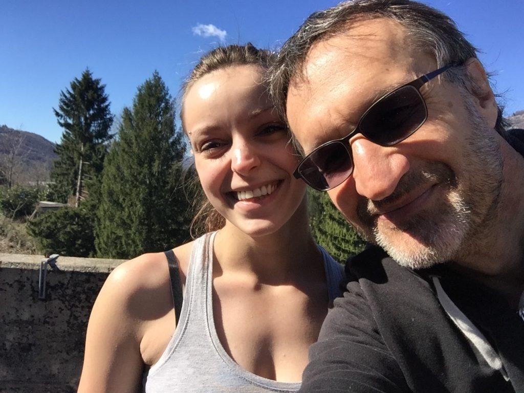 Mia figlia Tamara e Mauro HB9PUE